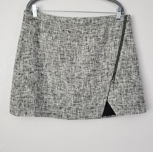 Banana Republic Gray Tweed Skirt Size 14 Women's